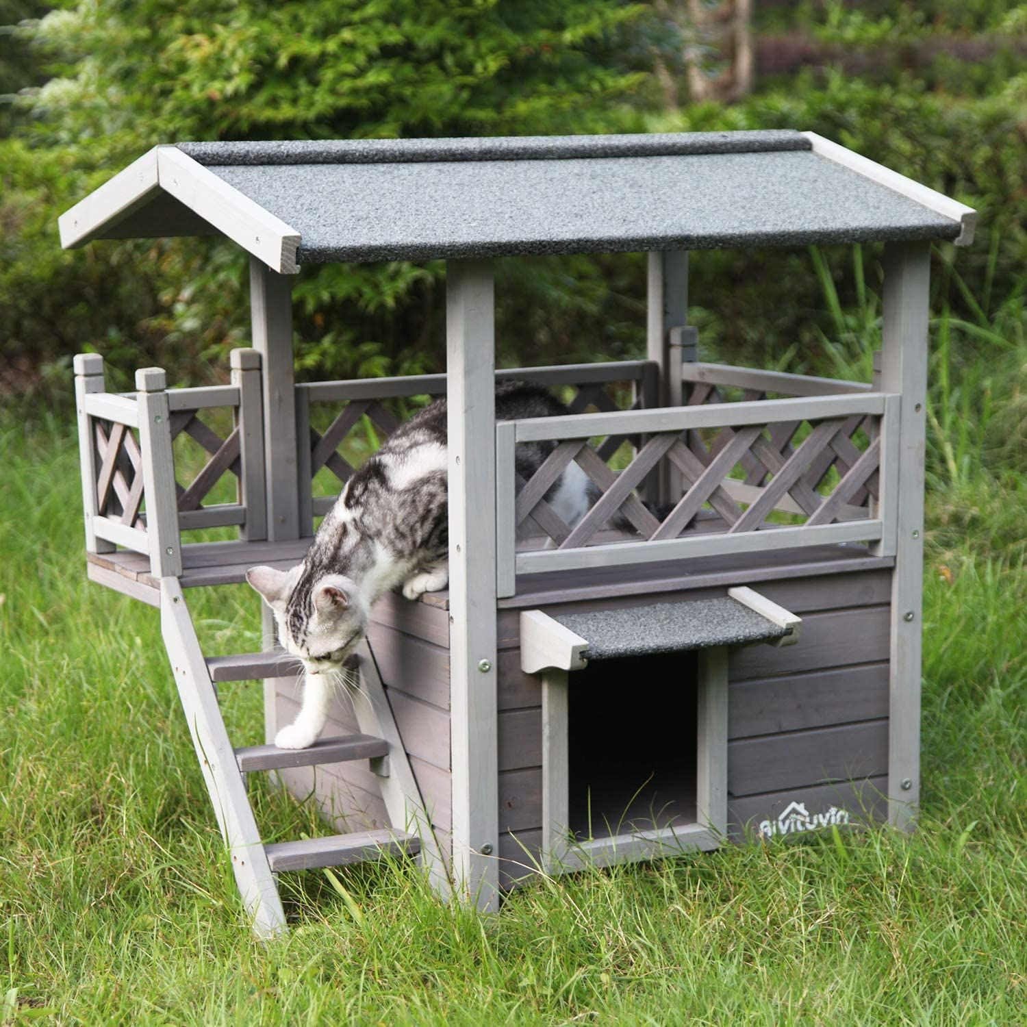 Outdoor Cat House In 2020 Outdoor Cat House Outdoor Cats Cat Houses Indoor
