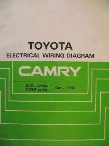 Toyota Camry Electrical Wiring Diagram Manual 1987 Ewd045e Listing