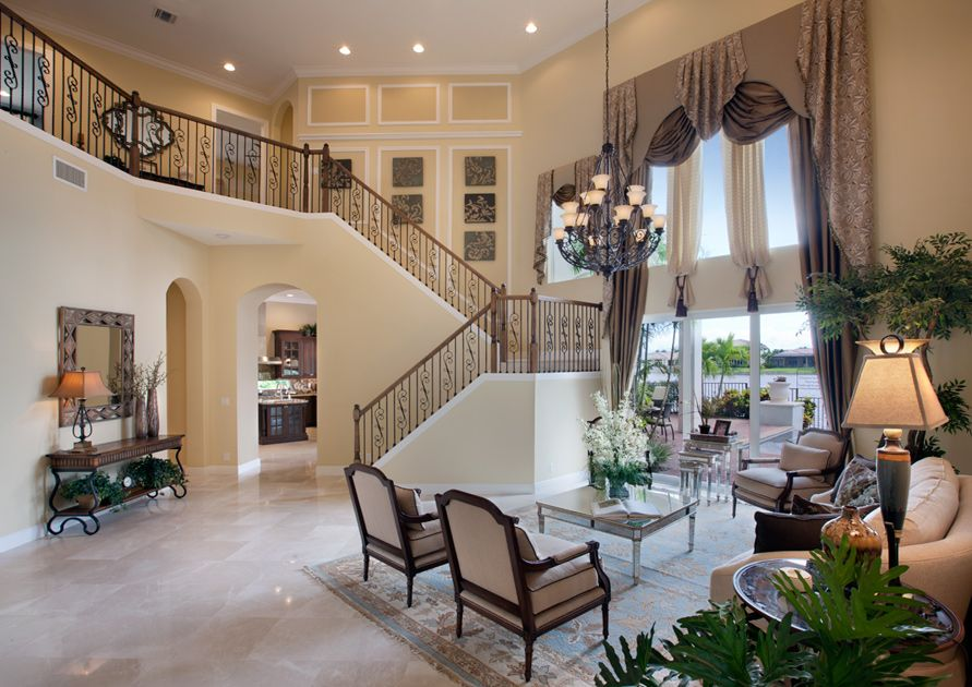 Toll Brothers The Dalenna Two-story Living Room | Gorgeous ...