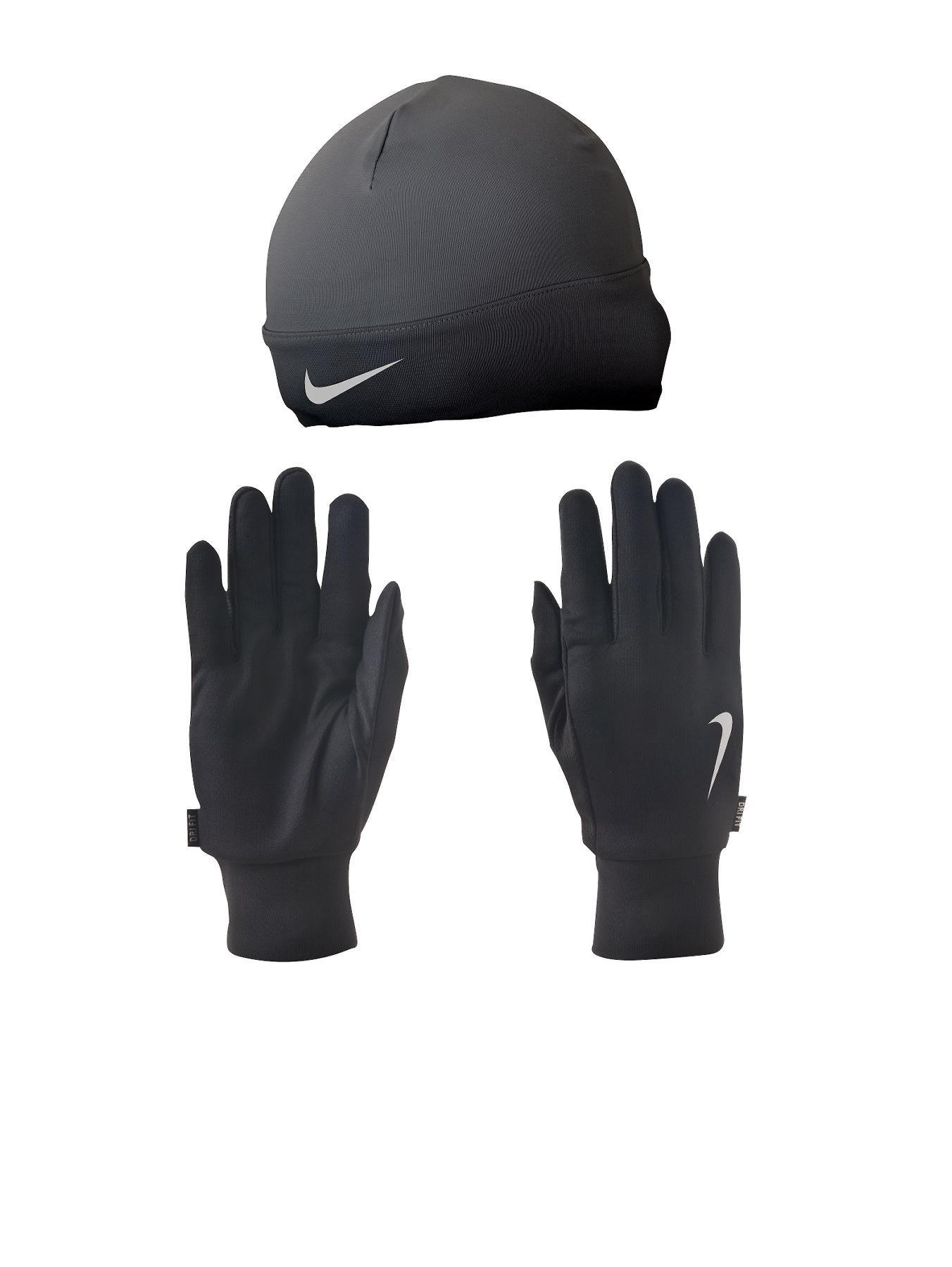 Nike Mens Running Dri-Fit Gloves and Beanie Set  9996a31091b2
