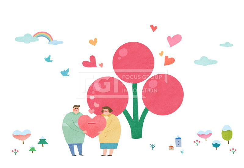 PAI118, PAI118b, 에프지아이, 따뜻한세상, 사람, 캐릭터, 오브젝트, 겨울, 사회복지, 복지, 나눔, 사랑, 행복, 기부, 모금, 사랑의열매, 남자, 여자, 2인, 따뜻한, 일러스트, illust, illustration #유토이미지 #프리진 #utoimage #freegine 19486978