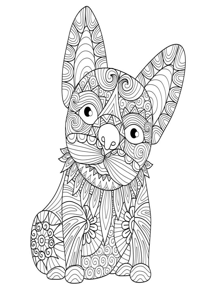 Mindfulness Coloring Dog In 2021 Animal Coloring Pages Mandala Coloring Pages Coloring Pages [ 1121 x 793 Pixel ]