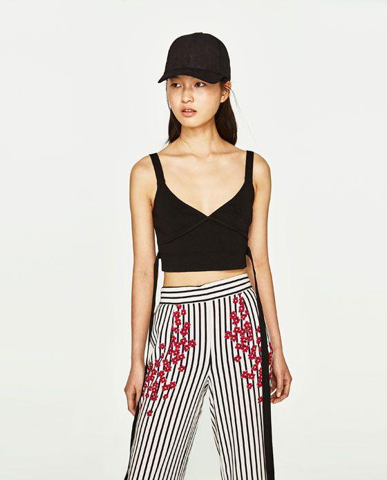Zdjecie 3 Spodnie W Paski I Kwiaty Z Zara Floral Trousers Striped Trousers