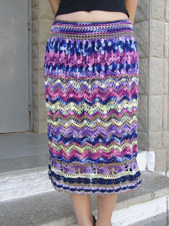 Комбинированная юбка летняя