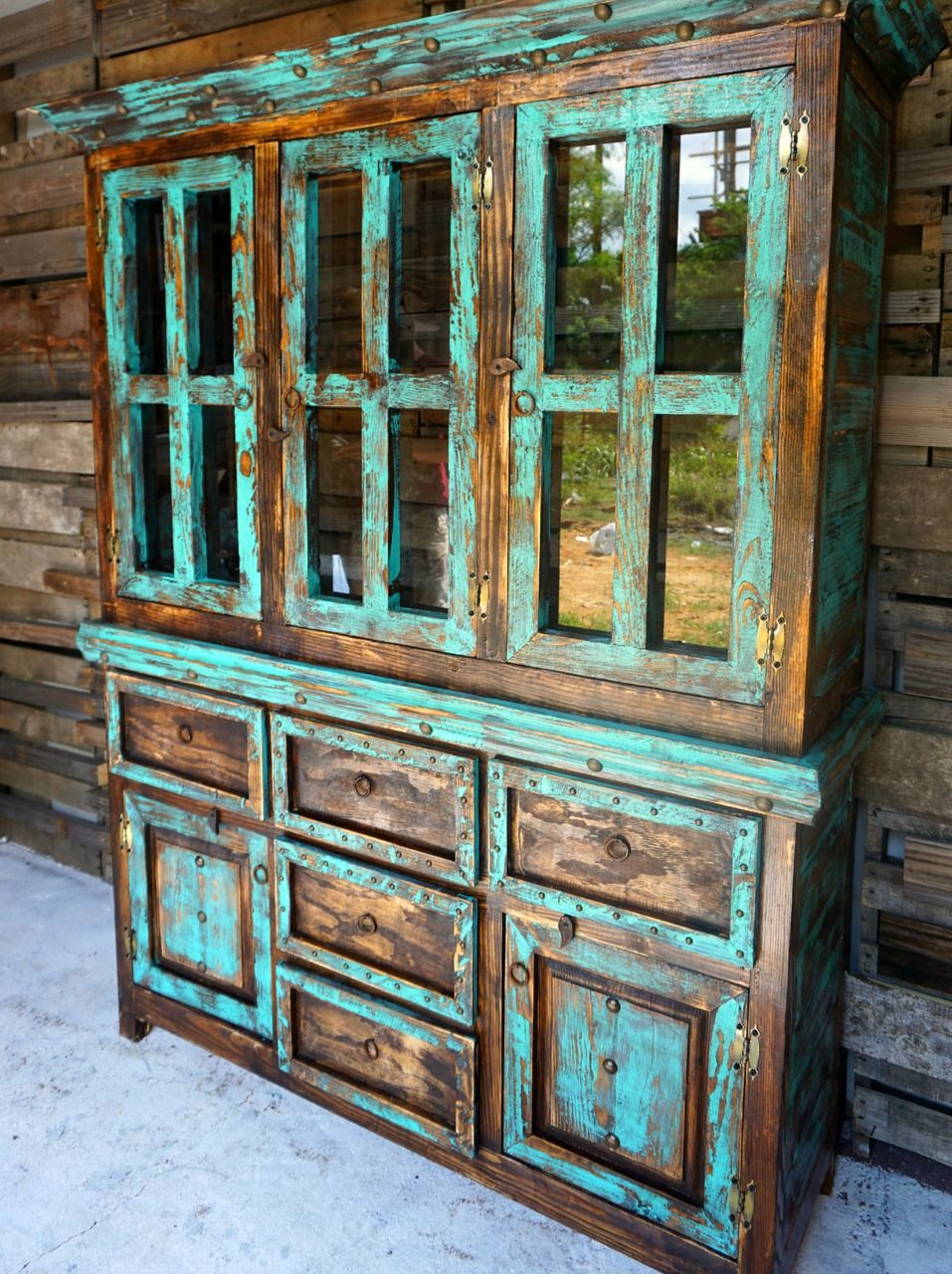 San Antonio Rustic Hutch. Western FurnitureRustic Painted FurnitureVintage  ...