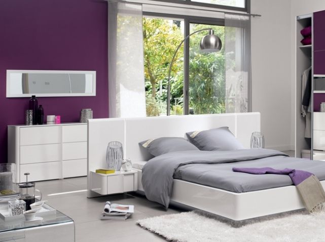 Chambre design violet purple photo conforama chambre parentale pinterest chambre for Chambre zen conforama