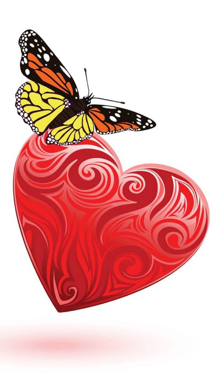 Pin By Divannir Pereira On Wallpaper Butterfly Wallpaper Heart Wallpaper Red Wallpaper