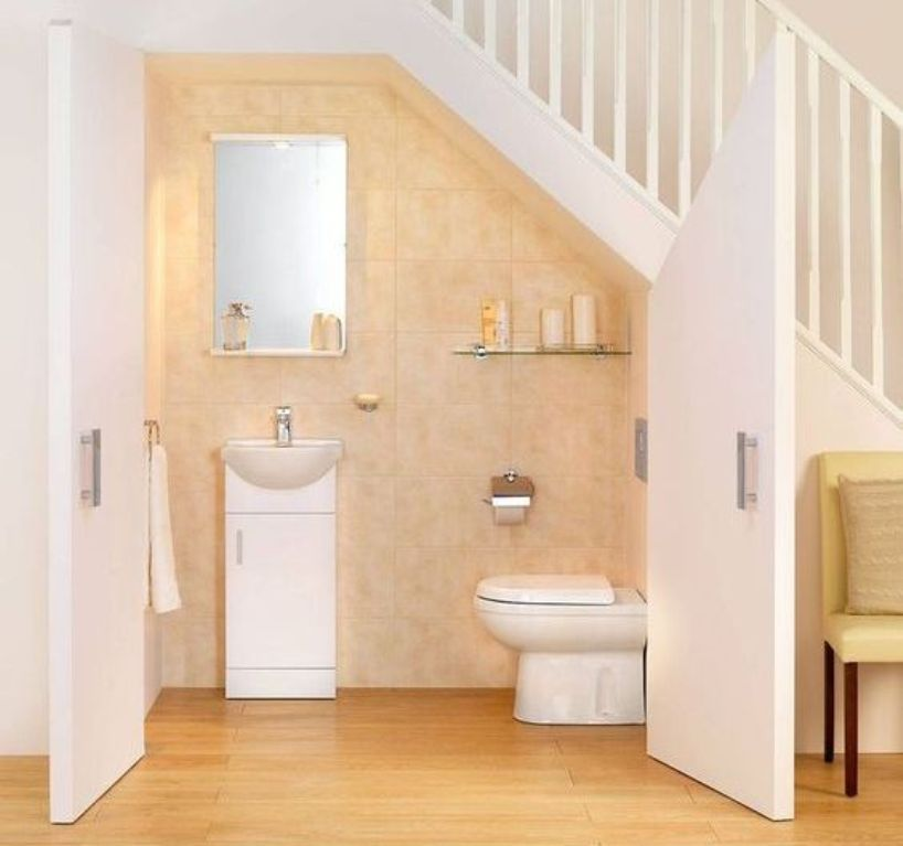 8 Mind-Blowing Under Stair Powder Room Designs To Inspire
