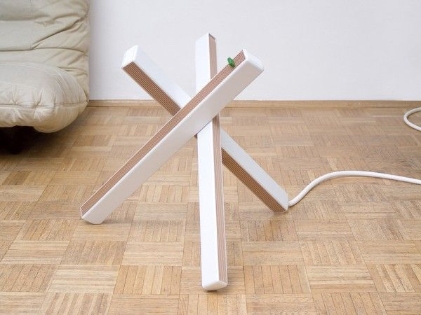 COOL ! The Rigid Form Of A Portable Radiator Is Reduced Into Three Light  And Efficient