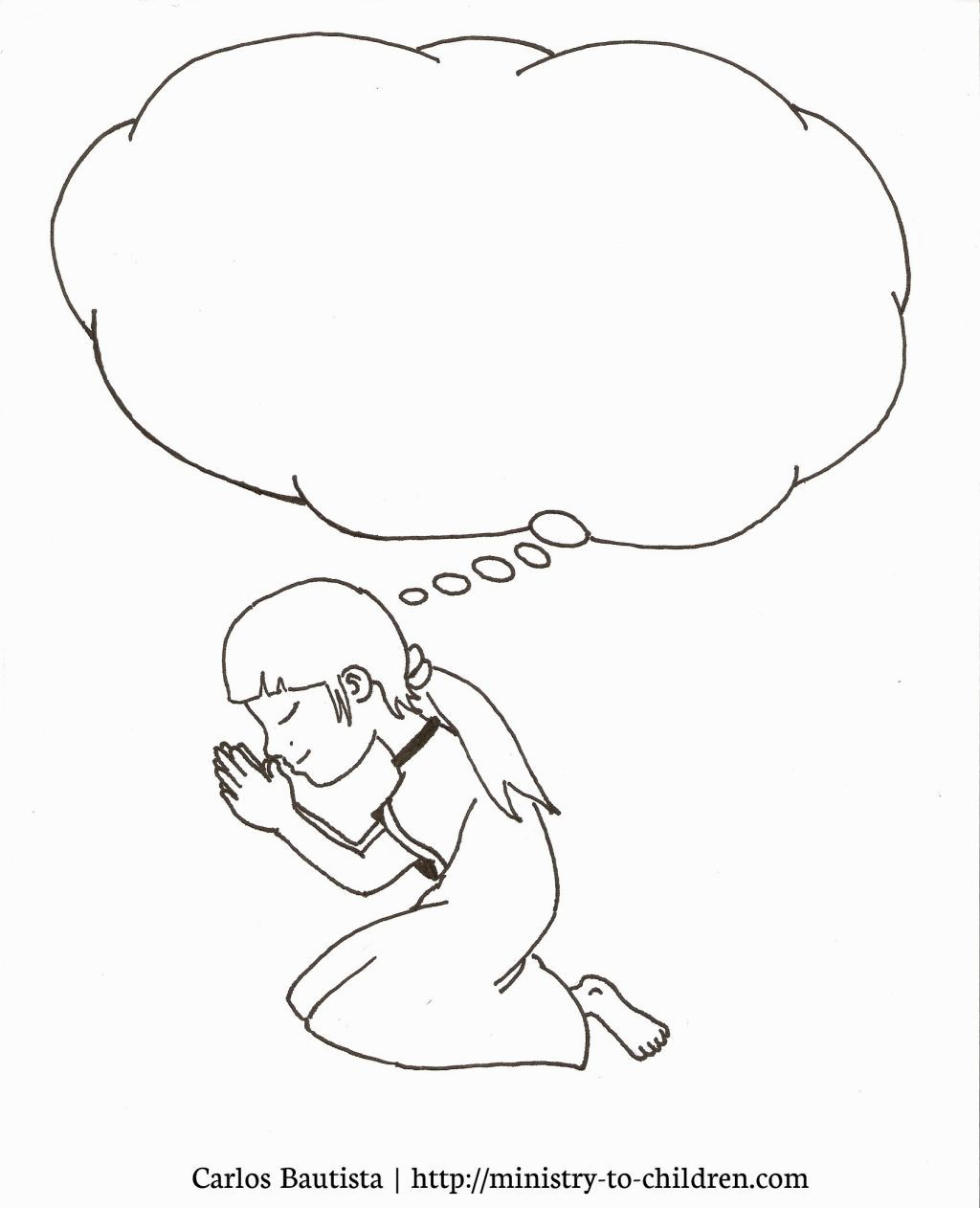 Child Praying Coloring Page   Coloring Pages   Pinterest   Child