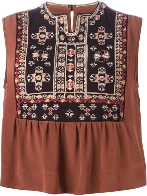 ISABEL MARANT Embroidered Top. #isabelmarant #cloth #top