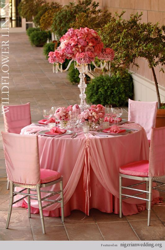 coral and silver wedding reception | 18 Fabulous Wedding ...
