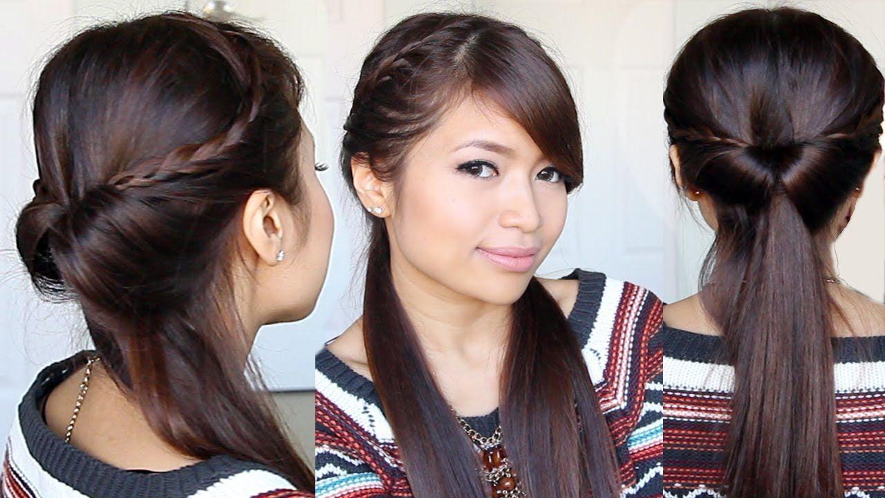 Tucked In Lace Braid Half Up Half Down Hairstyle Hair Tutorial Playlist Hair Tutorial Braids For Long Hair Braids For Short Hair
