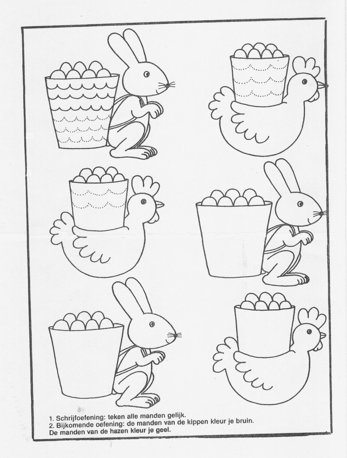 Kippen En Kuikens Kleurplaten Deze Werkbladen Zijn Verzameld D Pasen Easter Easter