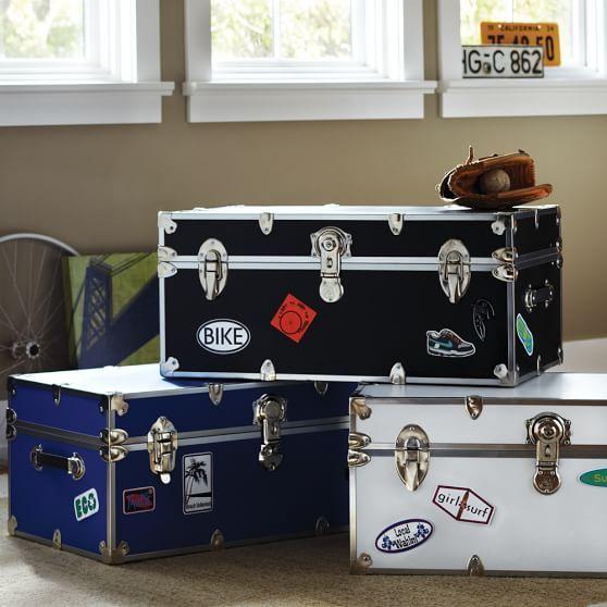 Vinyl Dorm Trunks with Silver Trim images