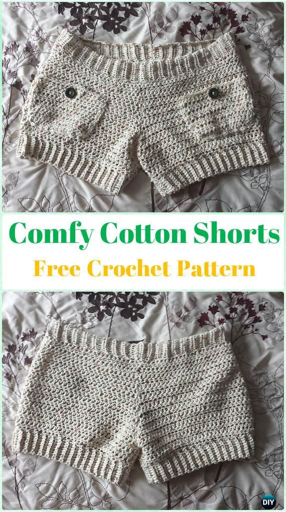 Crochet Summer Shorts & Pants Free Patterns Adult Size | Crochet ...