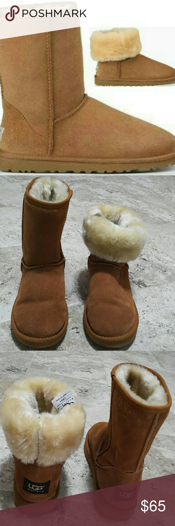 6ee74a8667d UGG Classic Boots Great condition. Clean in/outside. A bit worn sole ...