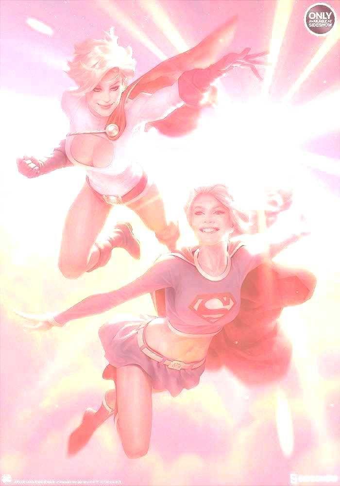 DC Comics Supergirl & Power Girl Art Print by ...