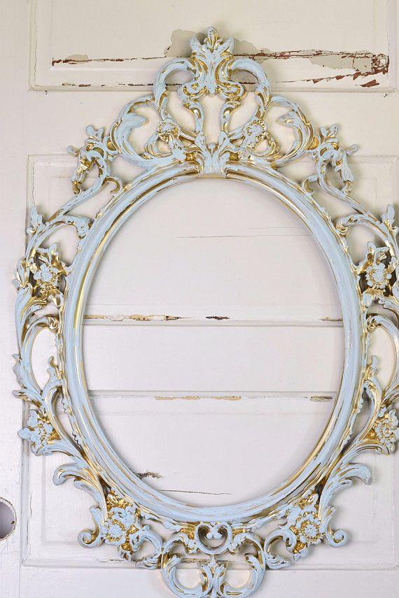 Ornate Oval Frame, Wall Frame, Baby Shower Gift, Nursery Decor ...