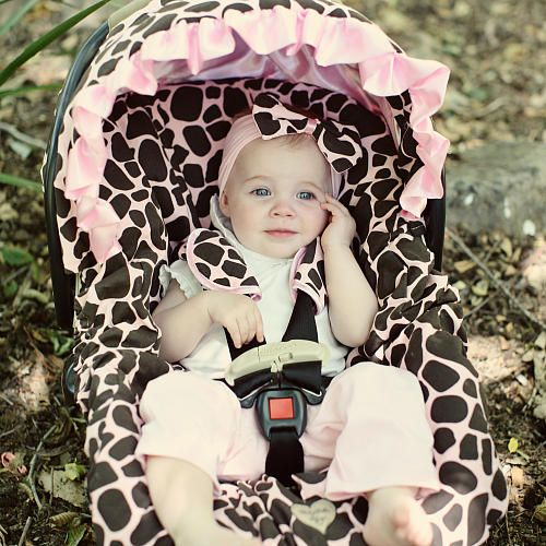 Baby Bella Maya Infant Car Seat Cover - Ginny Giraffe - Baby Bella