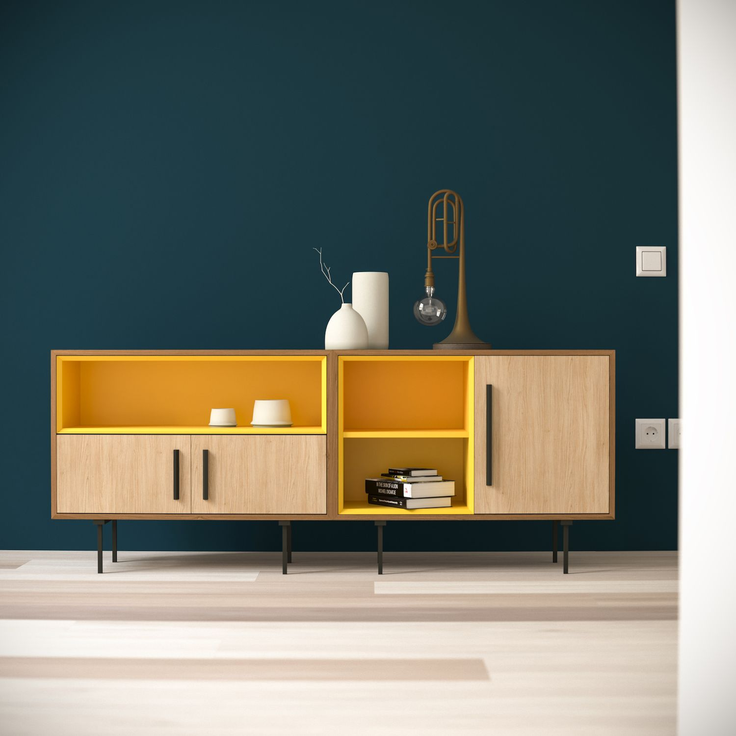 Nice Combination Of Material Color And Form Meuble Salle A Manger Design Mobilier Design