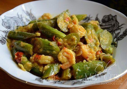 Terung Telunjuk Masak Tempoyak Makanan Dan Minuman Makanan Dapur