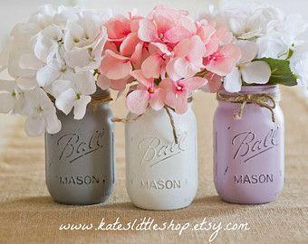 Mason Jar Wedding Centerpieces Etsy