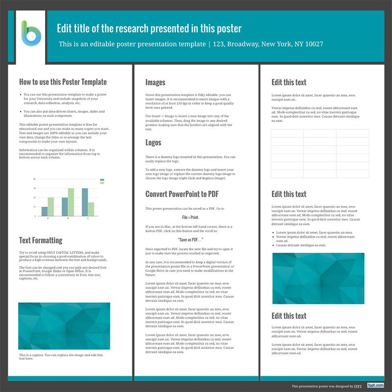 Presentation Poster Templates Free Powerpoint Templates Work - research poster