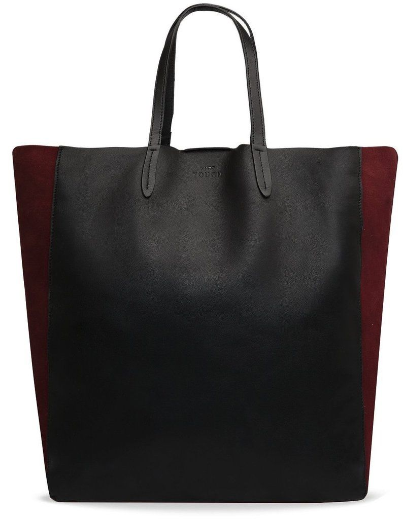 Back-to-school staple  Mango Touch Leather and Suede Shopper Bag ( 170) f3ab18d8d3f41