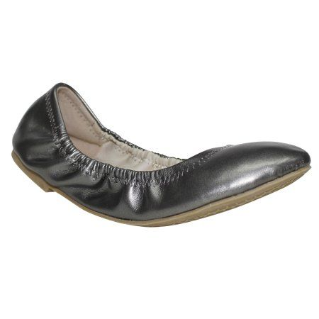 55460d72b621 Time and Tru Women s Scrunch Ballet Flat