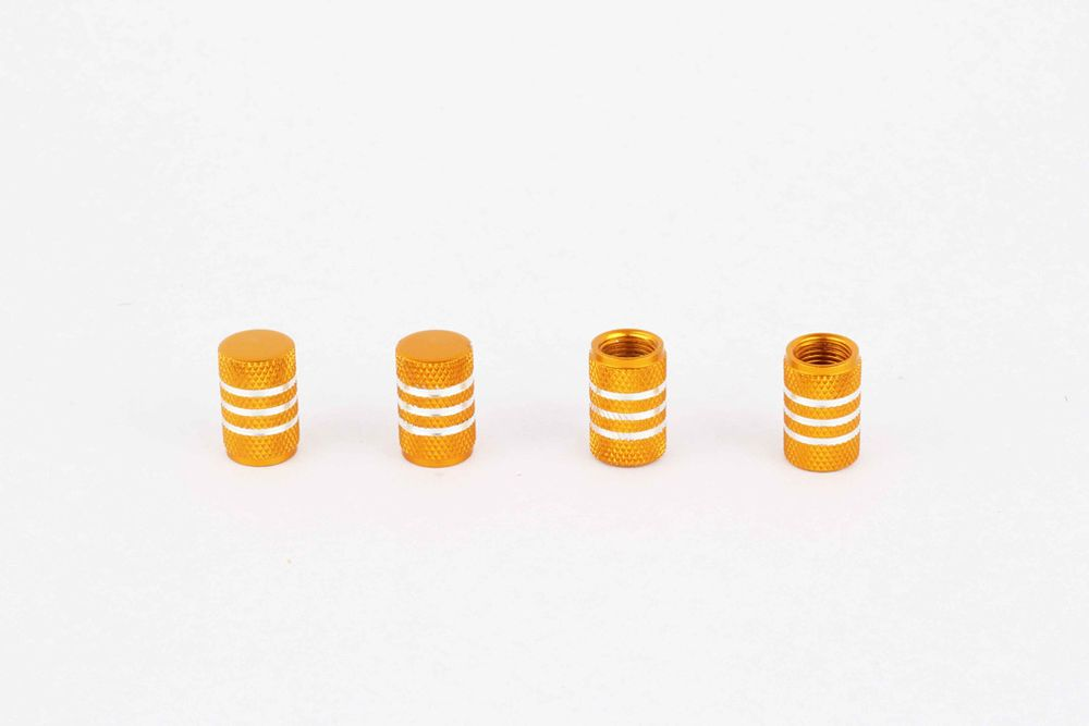 4pcs Car Tyre Valve Caps Wheel Tire Dust Covers Protector Gold Crown Caps Cover