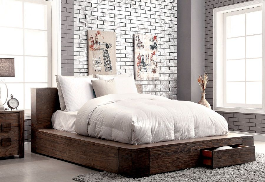 Janeiro Collection CM7629Q Queen Bed Frame