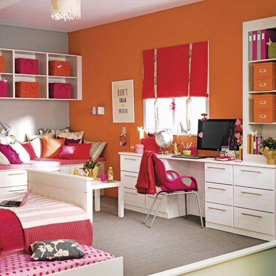Fresh Kids Room Color Combo Pink Orange Bedroom Orange Colorful Kids Room Room Colors