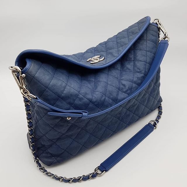 2400 wire. Preloved Chanel French Riviera Hobo Blue