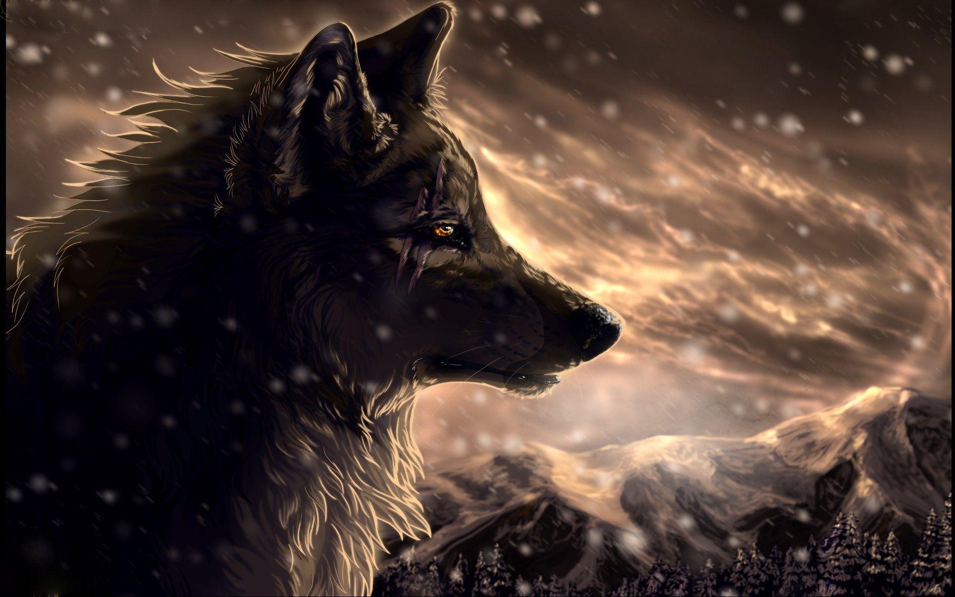 71 Animated Wolf Wallpapers On Wallpaperplay Grafis Multimedia Desain Grafis