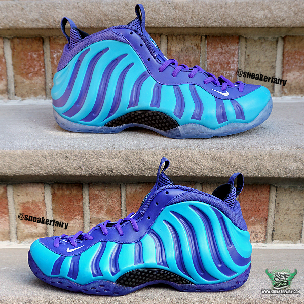 the best attitude 05975 0dbb1 sneaker fairy fetti dbiasi custom sneakers shoes nike foamposite one pro  charlotte hornets purple aqua teal sharpie hardaway penny anfernee