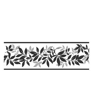 Another Great Find On Zulily Black Leaf Trail Border Wall Decal Zulilyfinds Wallpaper Border Pink Wallpaper Border Peel And Stick Wallpaper