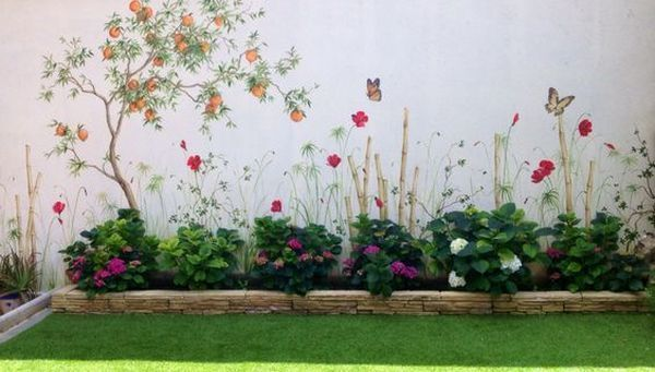 Perfect Eyecatching Diy Artistic Decoration Ideas For Outdoor Areas Garden Mural Garden Fence Art Garden Wall Art