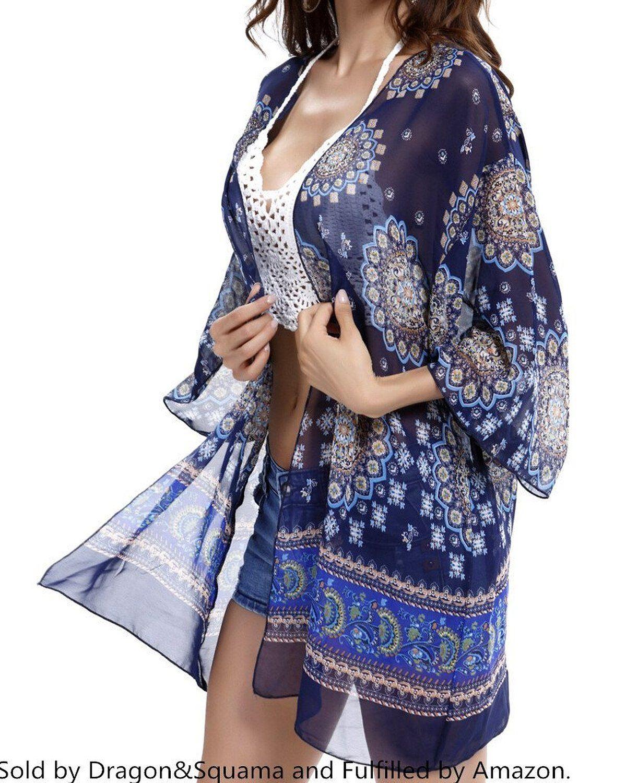 f0494c1fec Beach Cover Up, Women Boho Chiffon Kimono Cover-ups, Cardigan:Summer Fashion:  Spring Outfits:Casual Outfits:Cute Outfits: Summer Outfits: Spring ...