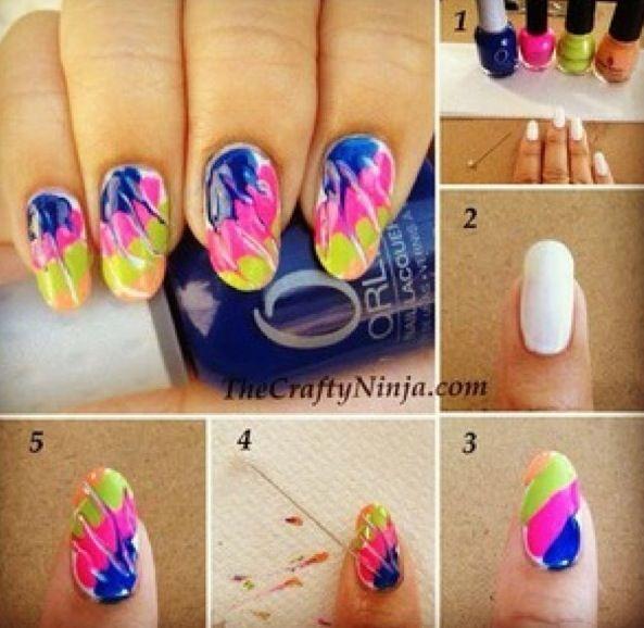 Easy Tie dye DIY | Nails <3 | Pinterest | Easy, Tie dye nails and ...