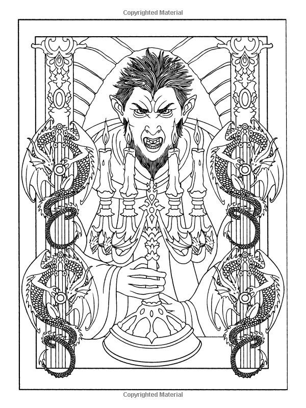 Vampires Dover Coloring Pages