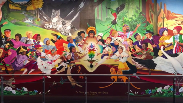 8 conspiracy theories about the denver airport that 39 ll for Mural in denver airport