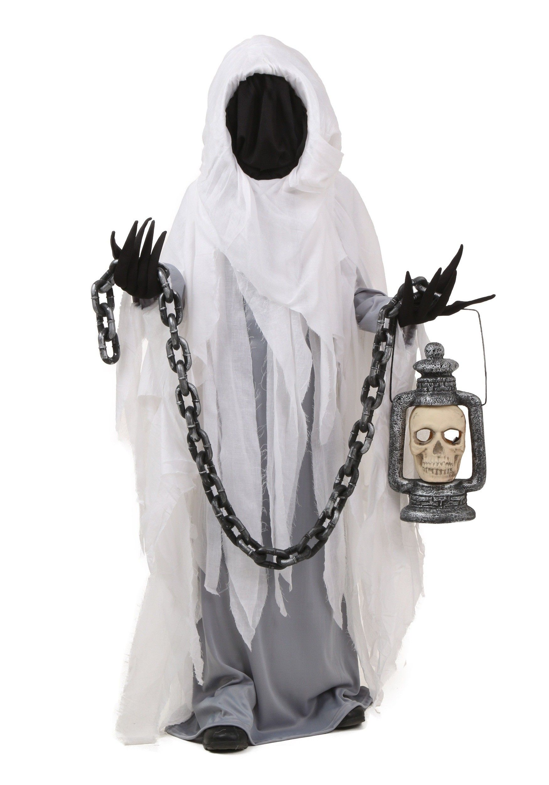 This Child Spooky Ghost Costume is bound to scare the