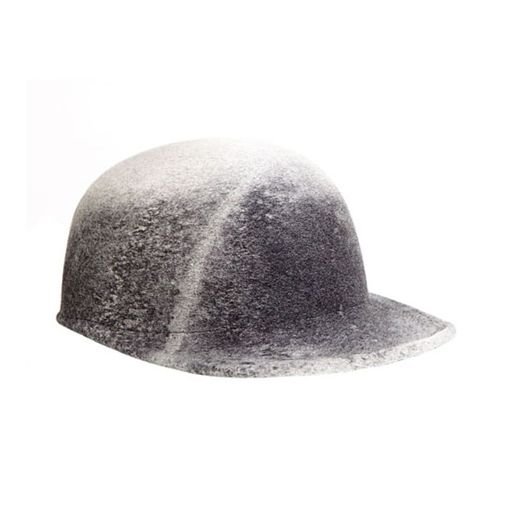 8bd708962be19 JOEY Gray marble wool felt blocked baseball cap