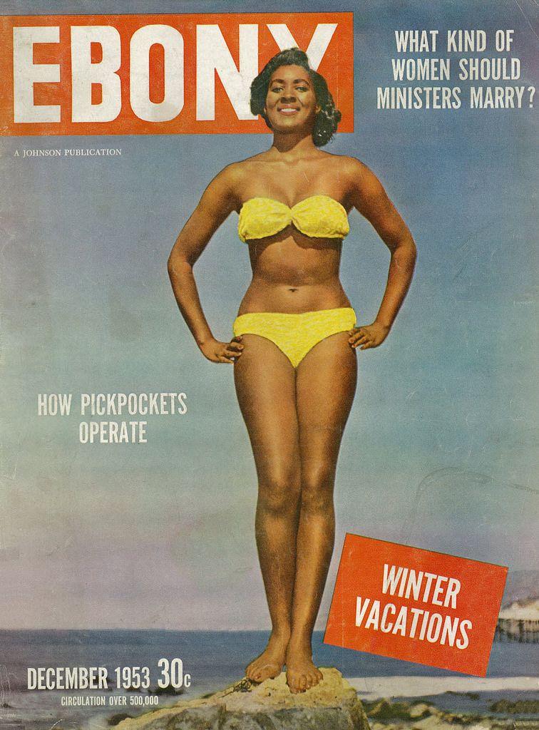 Ebony collage bikini