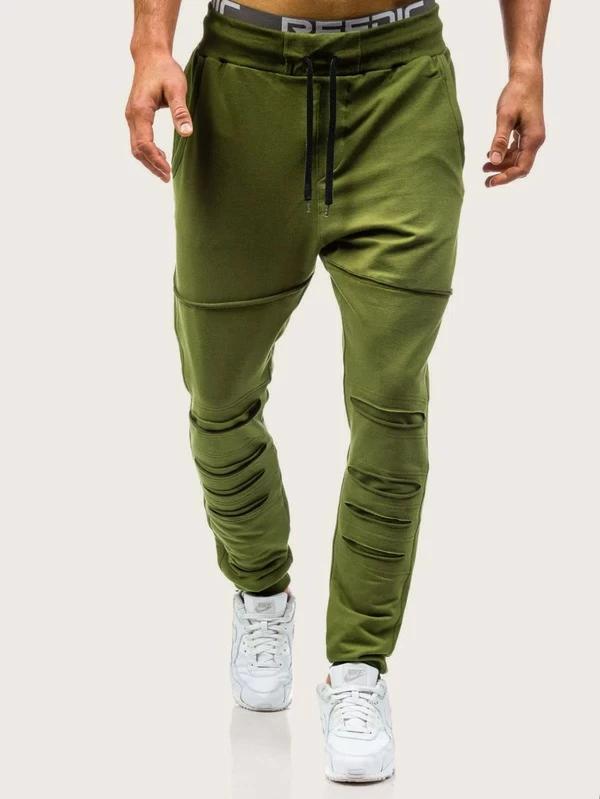 Photo of Men's ripped drawstring sweatpants