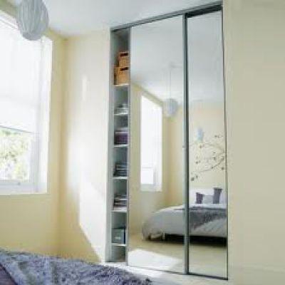 Portes de placard coulissantes miroir 250 x 180 - CASTORAMA porte - porte coulissante sur mesure prix
