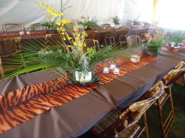 Adult theme party jungle