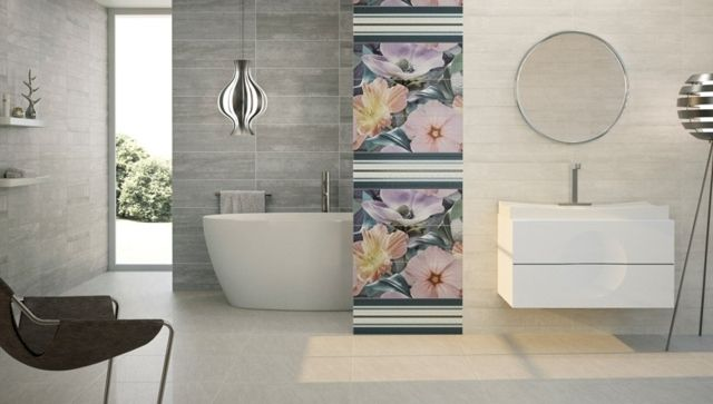 beige Wand Muster Fliesen modern Fotos Natur Bathroom ~ ECOstyle - muster badezimmer fliesen