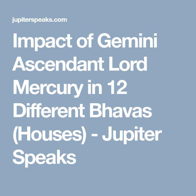 10 Facts Gemini Ascendant Vedic Astrology | Ascendant Lord